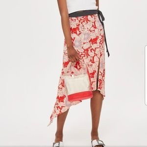 Top Shop Floral Midi Skirt